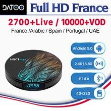 IPTV France Arabic Italy Spain Turkey DATOO HK1 MAX Android 9.0 4G+32G BT Dual-Band WIFI IP TV Portugal Box