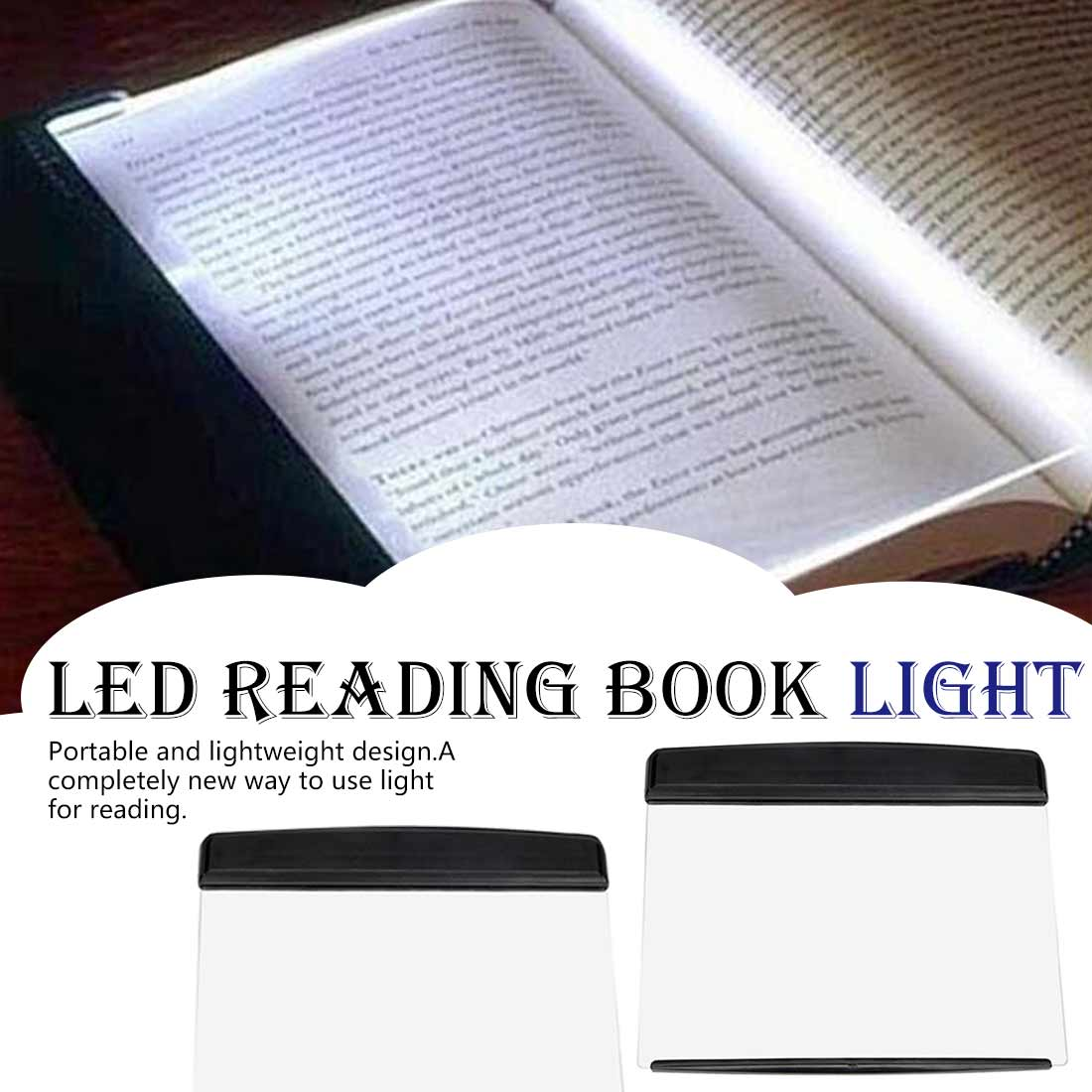 Reading Light Plate Lamp Creative LED Reading Book Light Eye Protect Battery Night Light For School Or Home Reading Light