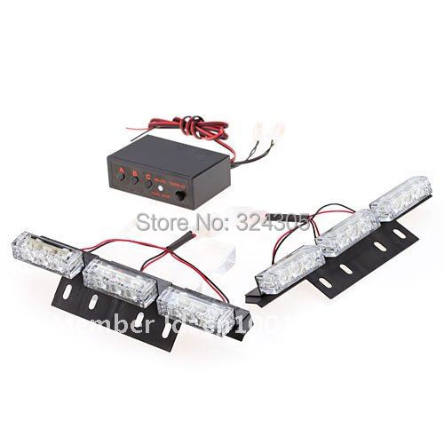 wholesale LED Car Truck Emergency Strobe Flash Light Lamp Super Bright blue and red