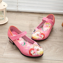 Girls Shoes Kids Mary Jane Little Girls Wedding Children Shoes 2019 Spring Autumn Princess Cartoon Leather Party Shoes toddler girl sequin glitter flat sandals little kids mary jane pu leather pumps big children party wedding princess dress shoes