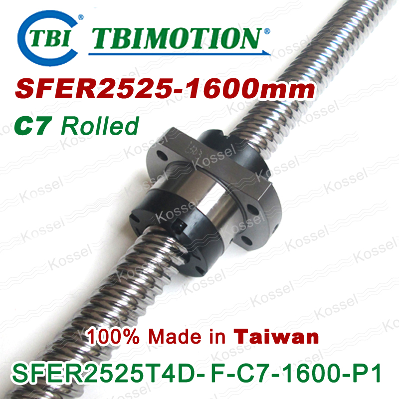 TBI ROLLED BallScrew 2525 ( SFE2525-6 ) SFE2525 / SFER2525-A4-D-F-C7 length 1600mm 4 rows steel ball nut горелка tbi 17 dx25 4 м вентильная in 176 196 206lvp