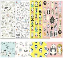 Япония творческий озорной маленький панда Наклейки/Записки дневник деко Наклейки/декоративные элементы/школьные канцелярские принадлежности wj0633