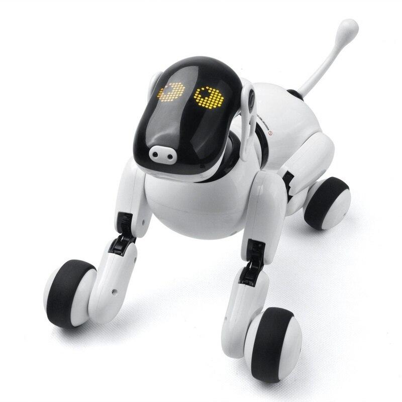 Control remoto inteligente perro electrónico 1803 RC Robot perro inalámbrico inteligente parlante electrónico mascotas niños juguetes cumpleaños regalo de Navidad