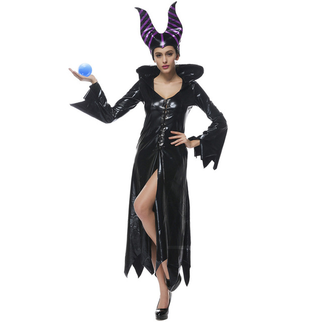 Us 29 19 20 Off Adult Women Evil Maleficent Magic Witch Halloween Cosplay Costume On Aliexpress Com Alibaba Group
