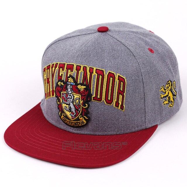 0e561dd96e1 Fashion New Embroidery Adult Baseball Cap Hogwarts Gryffindor Cosplay Hats  Men Women Adjustable Hip-Hop Snapback Caps