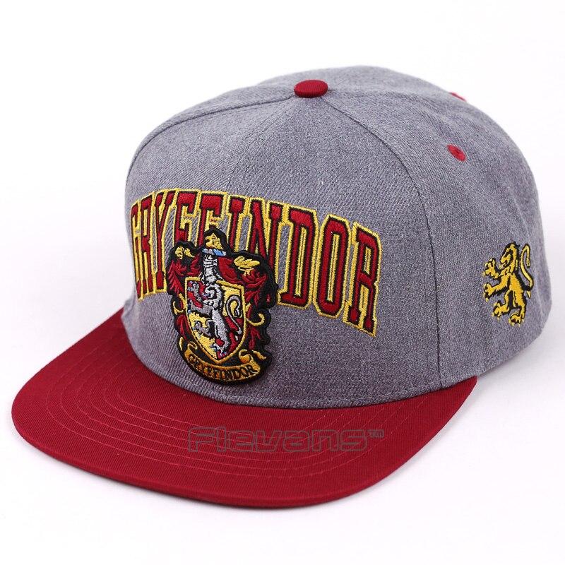 Fashion New Embroidery Adult   Baseball     Cap   Hogwarts Gryffindor Cosplay Hats Men Women Adjustable Hip-Hop Snapback   Caps