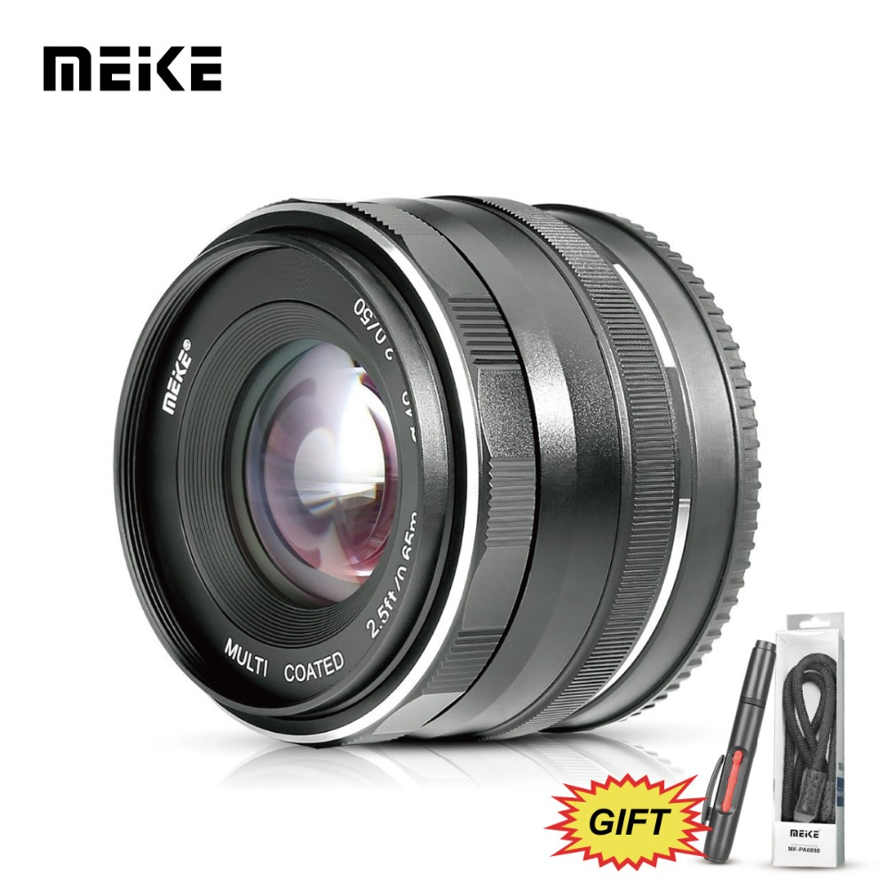MEKE 50mm f2.0 Large Aperture Manual Focus Lens for Nikon N1 V1/J1/V2/V3/J2/J3/J5 Camera+Free Gift meke meike mk 35mm f1 7 large aperture manual focus lens for nikon1 v1 v2 v3 s1 s2 j1 j2 j3 j4 j5 cameras