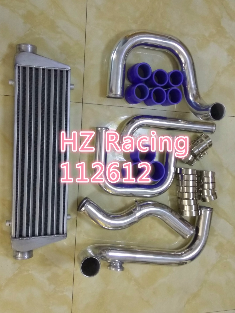 For Civic//Del Sol//CRX//Integra Silver Aluminum Front Mount Intercooler+Piping Kit
