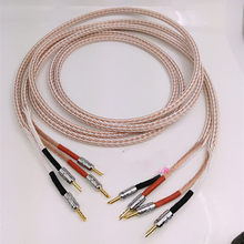 Par 12TC Hifi Cable de altavoz de alta calidad puro OCC Cable de altavoz con conector Banana