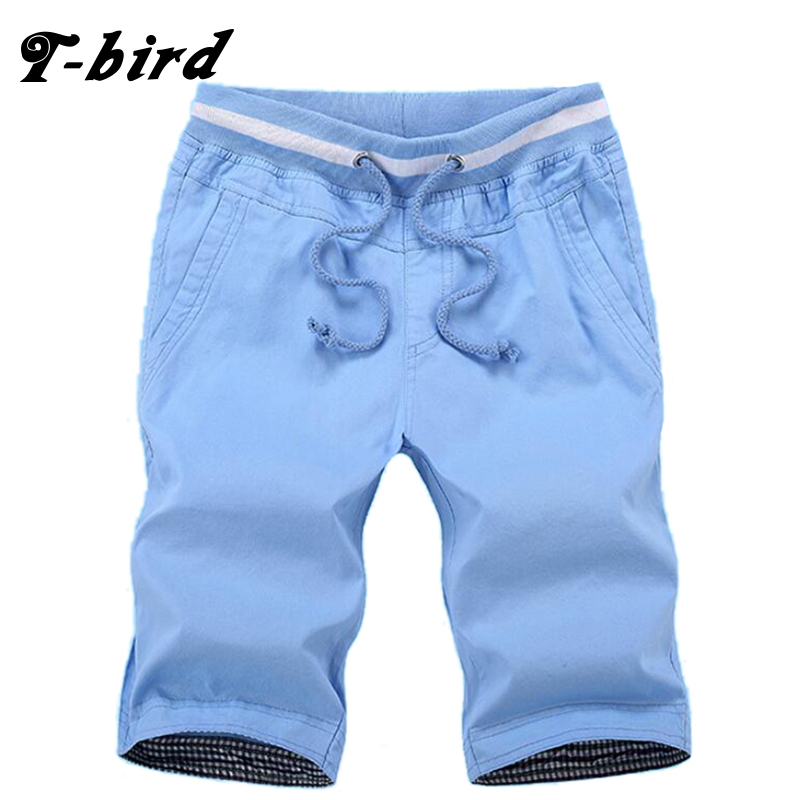 T-bird  Shorts Men Casual Bermuda Masculina Brand Solid High Quality Compression Male Cargo Shorts Men Fashion Summer Men Short