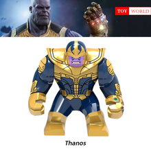 HOT New 3 Vingadores da Marvel DC Super Herói Blocos de Construção de Modelos de Homem De Ferro Compatível com LegoINGly Thanos Figura Batman conjunto de Brinquedo