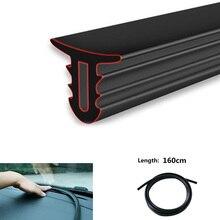 Faixa para painel de borracha 1.6m, adesivo à prova de som para painel de carro para toyota honda ford bmw audi hyundai kia
