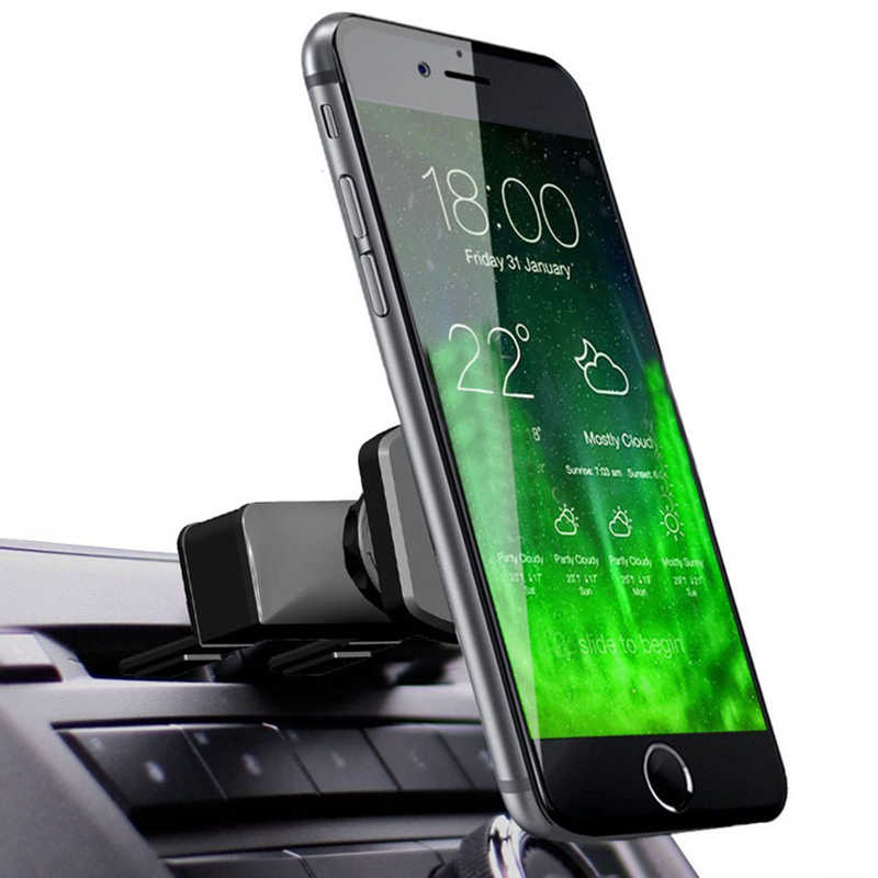 Duda Universal Telephone Holder Car Air Vent Cd Slot Stand Magnetic Mobile Phone Support 360 Degree