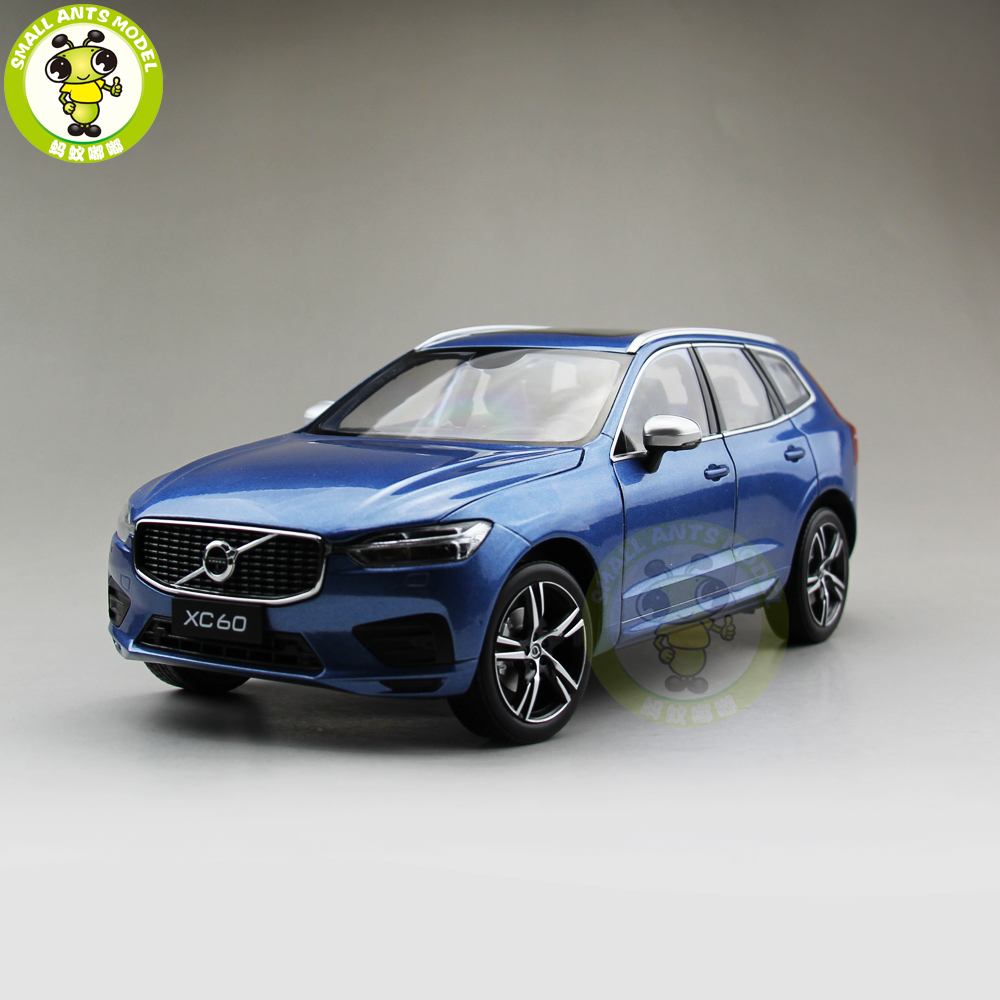 1:18 new Volvo XC60 Blue color diecast model gift