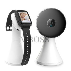 Image 4 - Wireless Video Watch Style Baby Monitor Portable shock vibration Baby Nanny Cry Alarm Camera Night Vision Temperature Monitoring