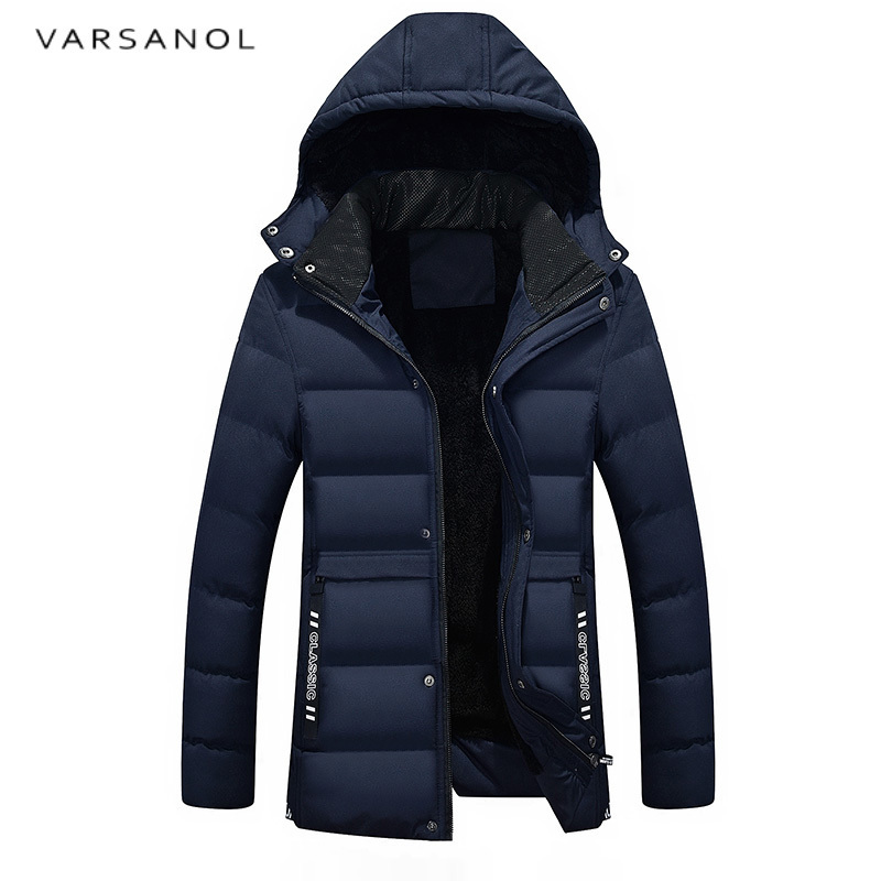 Varsanol Men Warm Cotton Jackets Long Sleeve Parka Men's Solid Casual Jacket Hoodies Outwear Zippers Thick Coat Loose Hot Sales hot sale winter jacket men fashion cotton coat warm parka homme men s causal outwear hoodies clothing mens jackets and coats