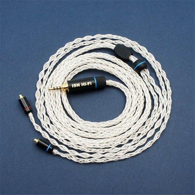 Isn s8 8 vertentes 19 núcleos de áudio de alta fidelidade audiophile iem fone de ouvido cabo