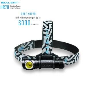 Image 2 - IMALENT HR70 Scheinwerfer CREE XHP70.2 LED max 3000 lumen scheinwerfer Magnetic Charging kopf licht mit 18650 li batterie LED Kopf lampe