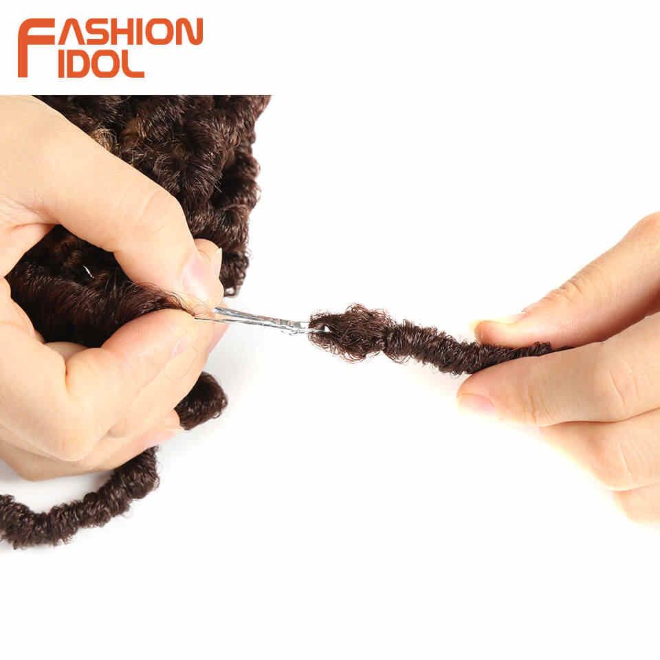 Мода IDOL афро Faux locs Crotchet накладные волосы Омбре красный синий коричневый 18 дюймов регги синтетические косички для наращивания волос для женщин
