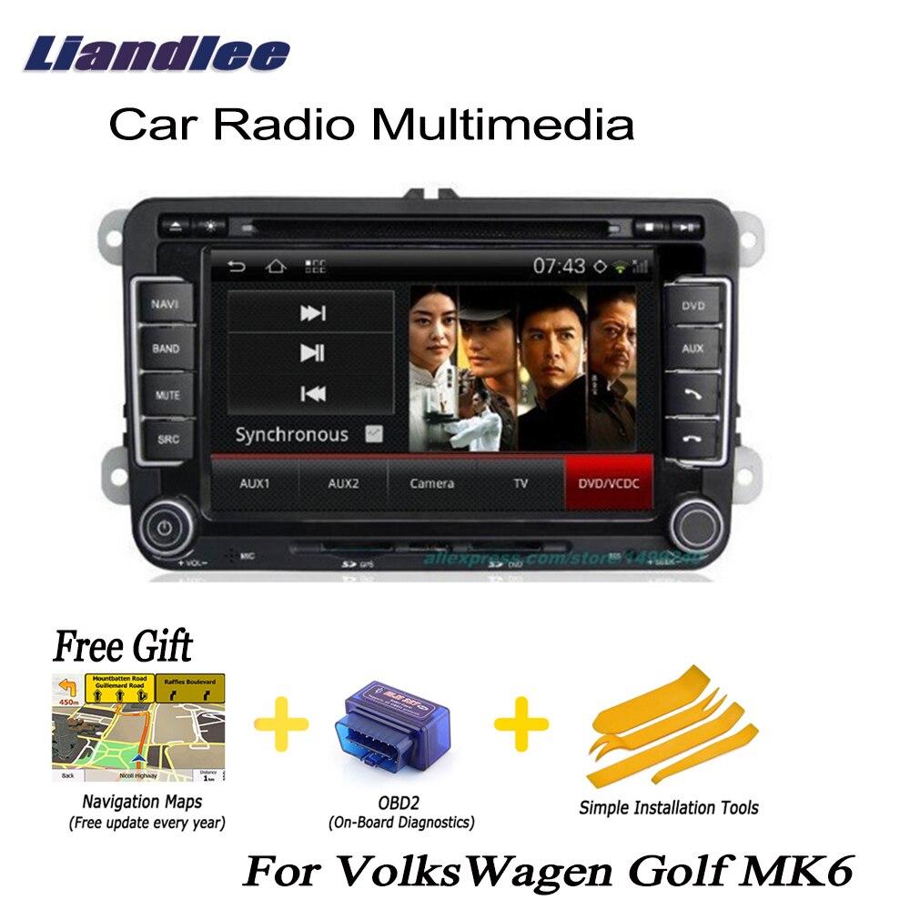 Liandlee 2 din voiture Android GPS Navigation Navi pour VolksWagen VW Golf MK6 2008 ~ 2012 Radio TV lecteur CD DVD Audio vidéo stéréo