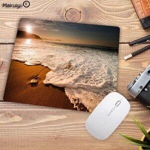 Image 4 - Mairuige alfombrilla de ratón estampada para ordenador de escritorio, playa, 180x220x2mm, tamaño pequeño