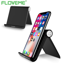 FLOVEME Universal Phone Holder Stand For iPhone 8 X Mobile Phones Tablet PC Folding Shaft Adjustable Table Holder Phone Support