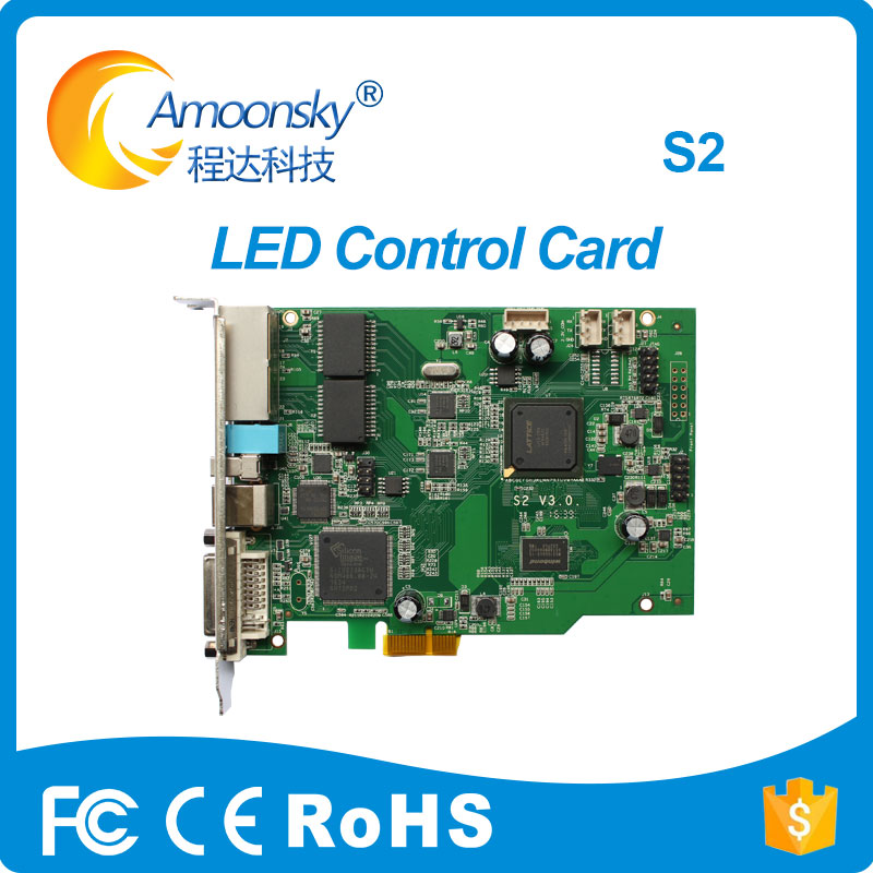 Transparent Led Display Colorlight S2 led RGB Sending Card Replace Led sender card IT7 Support 5A
