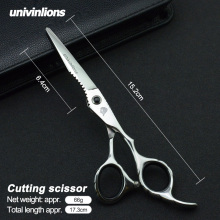 6 univinlions professional hairdresser barber thinning scissors hair cut beauty salon sissors japanese hairdressing