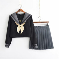 Pretty Girl JK Uniform Daily Suit Card Captor Sakura Women's Anime Cosplay Japanese School Student Uniform Mini Skirt Sets
