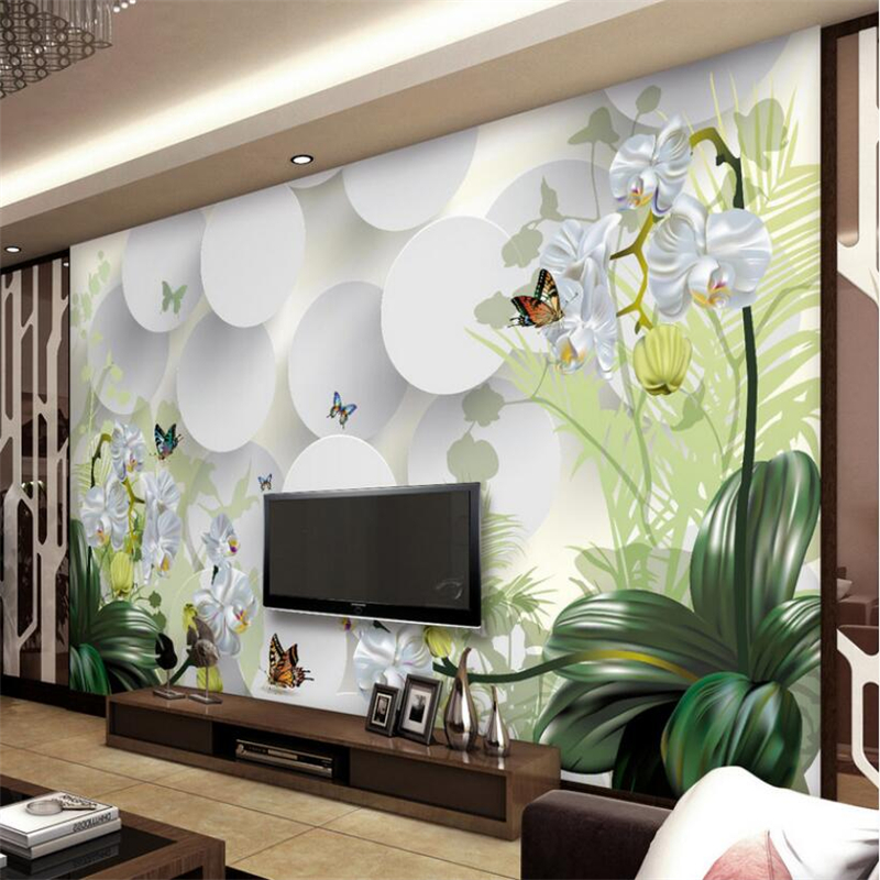 Купить с кэшбэком Beibehang 3D Wallpaper Clivia Ornament TV Wall Background Wallpaper 3d Mural photo wallpaper for walls 3 d papel de parede mural