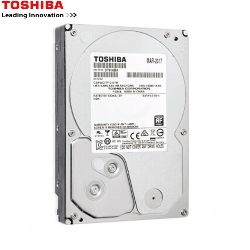 Toshiba HDD 3,5 2 ТБ 4 ТБ HD монитор компьютера Sata 3 Внутренний жесткий диск 7200 об/мин 32 м DR для настольного компьютера