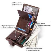 Genuine Leather Men Wallet Model 4