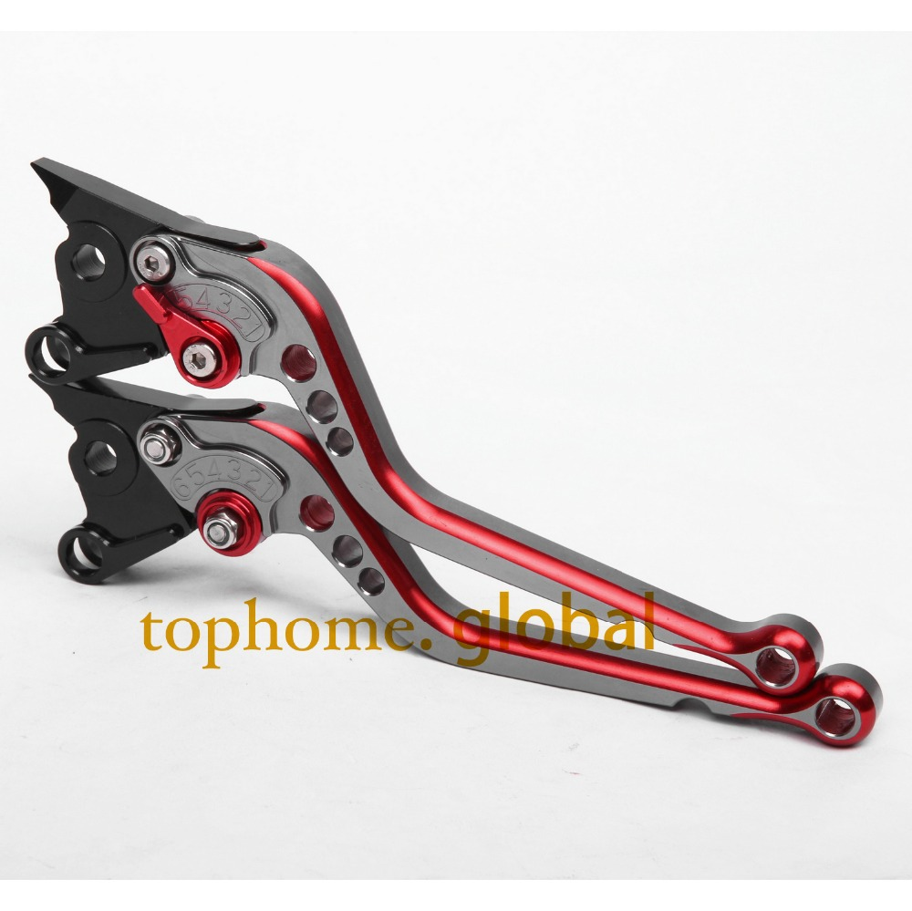 CNC Motorcycles Brake Clutch Levers Regular size Mixed Titanium&Red Color For Triumph Tiger 800/XC 2011-2012 2013 2014