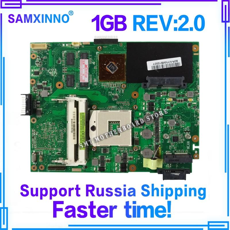 K52JR K52JC REV2.0 Mère D'ordinateur Portable 1 gb Pour ASUS A52J X52J K52J K52JR K52JE K52JC K52JU K52JB test de la Carte Mère 100% OK