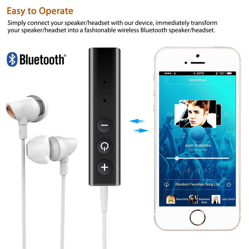 XINGYIDA 3,5 мм разъем клип на беспроводной Bluetooth приемник мини автомобильный аудио-музыкальный адаптер с микрофоном для наушников динамик