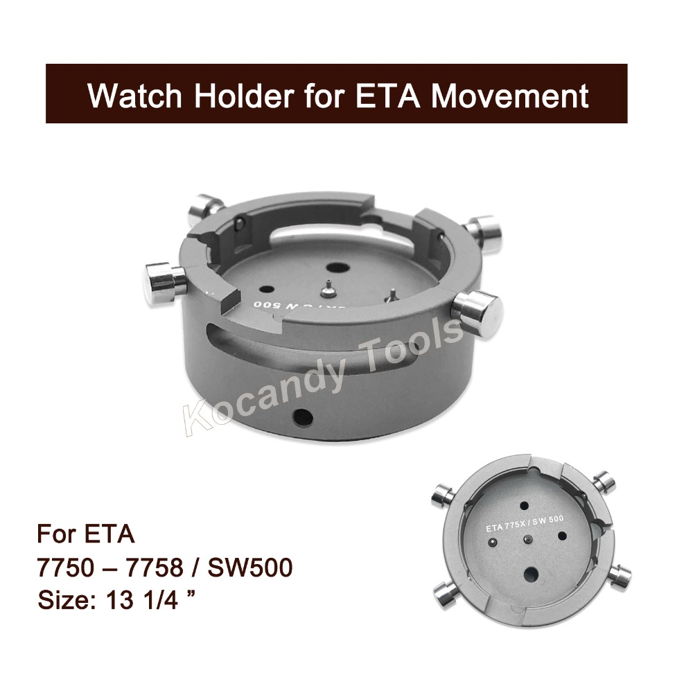 Watch Movement Holder for ETA <font><b>7750</b></font> - 7758 / SW500 13 1/4 Tool for Watch Repairing image