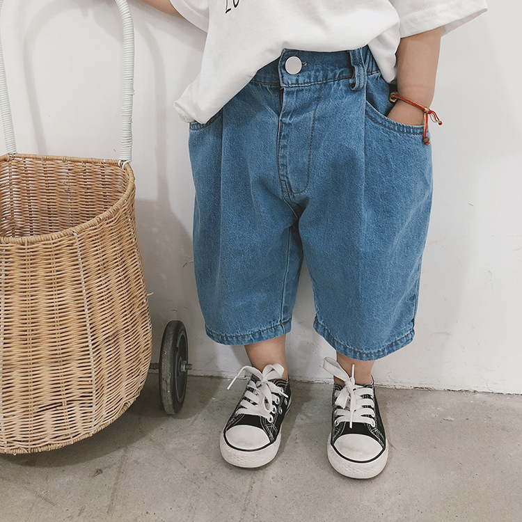 2 Colors Blue Loose Jeans Baby Summer Children's Jeans Loose Trousers Clothes Toddler Boys