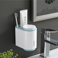 Plastic Toothbrush Holder For Home Toothpaste Dispenser Storage Rack Shaver Tooth Brush Case Bathroom Accessories Organizer Tool