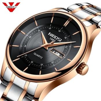 NIBOSI 2019 Watch Men Top Brand Luxury Military Army Sports Casual Waterproof Mens Watches Quartz Stainless Steel Wristwatch