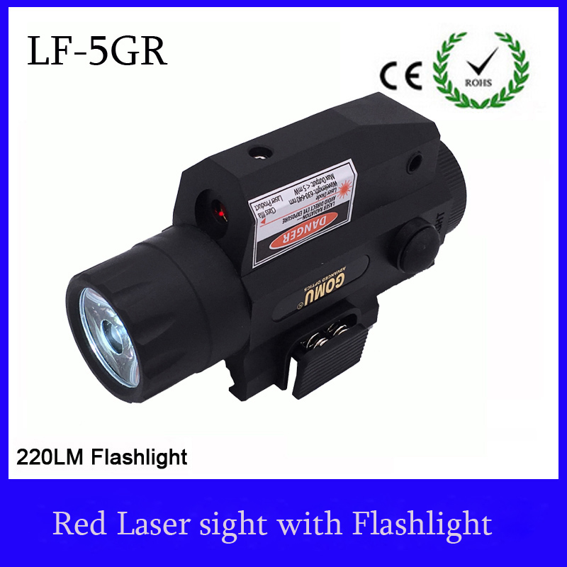 Pistol Tactical Red laser riflescope hunting Sight Scope with 220L LED flashlight Switch Button For Rifle Pistol Gun