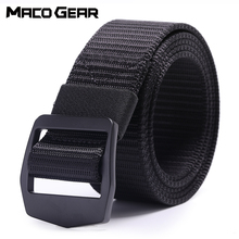 купить Outdoor Nylon Tactical Belt Military Waist Support Strap Sports Hunting Training Hiking Combat Metal Buckle Army Waistband Men дешево