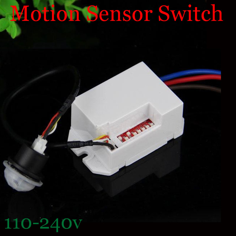 Newest Hot Sale IR Infrared Ray Motion Sensor Switch time delay adjustable mode  detector switching 110v-240V CM078 10pcs ac100 240v body pir infrared ray motion sensor switch time delay adjustable mode detector switch for panel ceiling lamp