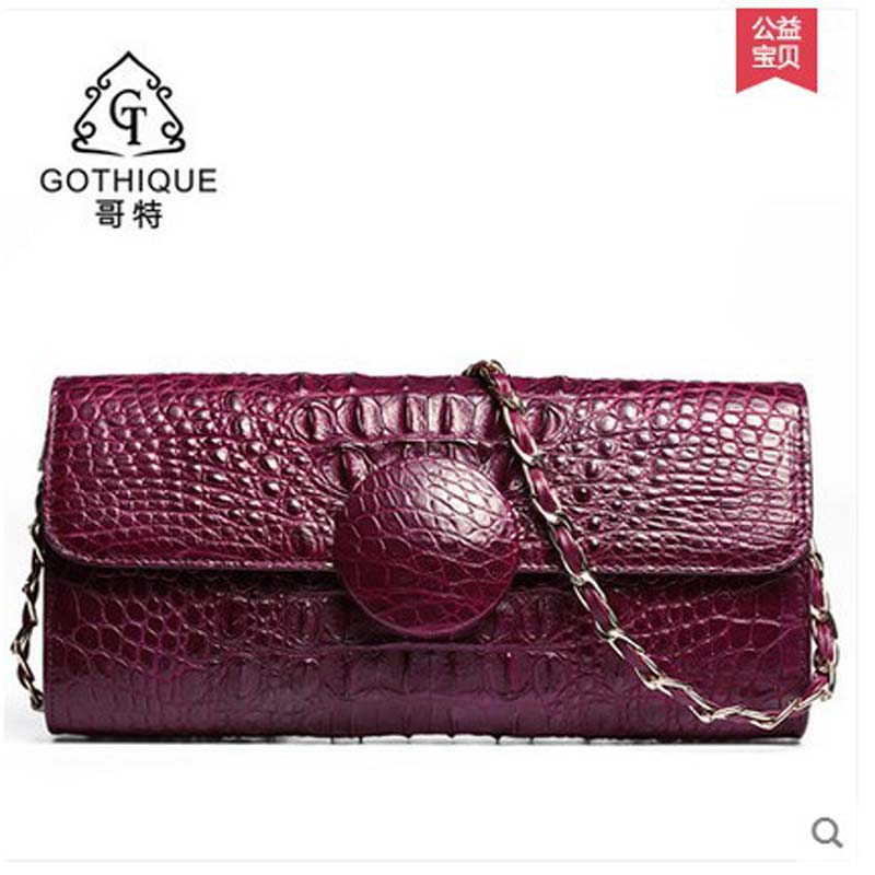 gete new alligator skin women bag is a bag lady's bag lady's single shoulder bag 2018 new freeshipping