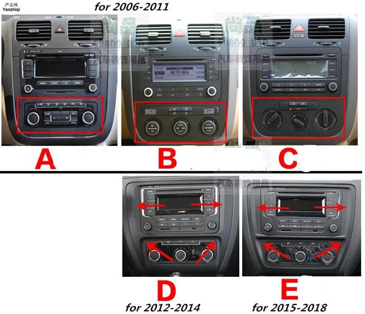 The Full Set Of Carbon Fiber Interior Control Car Stickers For 2006-2011 2012-2014 2015-2018 VW Volkswagen Jetta MK6