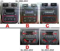 The full set of carbon fiber interior control car stickers for 2006 2011 2012 2014 2015 2018 VW Volkswagen Jetta MK6