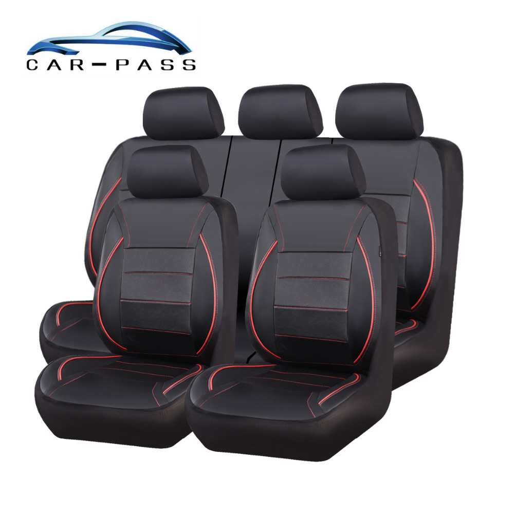 Car-pass Universal 4 Color Pu Leather Car Seat Cover Suit For 40/60 60/40 50/50 Rear Seat Covers For VOLKSWAGEN ford focus 2