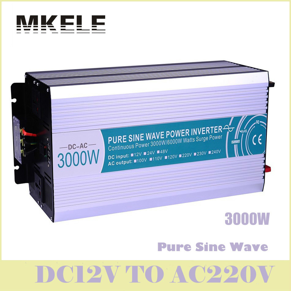 High Quality MKP3000-122 Off-grid Pure Sine Wave 12v To 220v 3000w Voltage Converter Solar Inverter LED Digital Display China