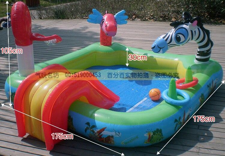 8012 100% нетоксичный запаха нам Многофункциональный Детский Надувной Бассейн/детский Бассейн с распылением мультфильм животных