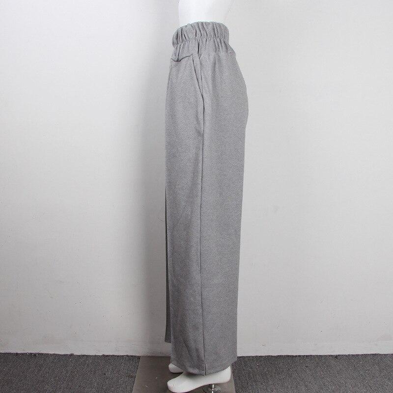 FATIKA Autumn Winter Women Loose Casual Long Pants New 19 Elastic Waist Fashion Thick Wide Leg Pants Stylish Trousers 9