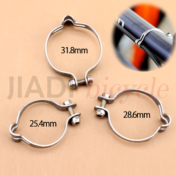 цена на MUQZI Fixed Gear Bicycle Frame Line Pipe Fixed Tubing Clips Clamps Harness Brake Shifting Cable Tuble Frame 28.6/25.4 /31.8/34.9